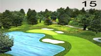 golf course animation video